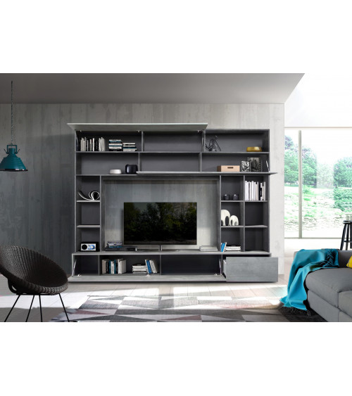 Ensemble meuble TV GEORGIO gris 277 cm