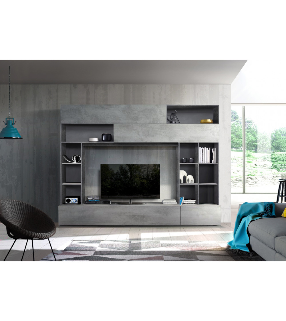 Ensemble meuble TV GEORGIO gris 277 cm