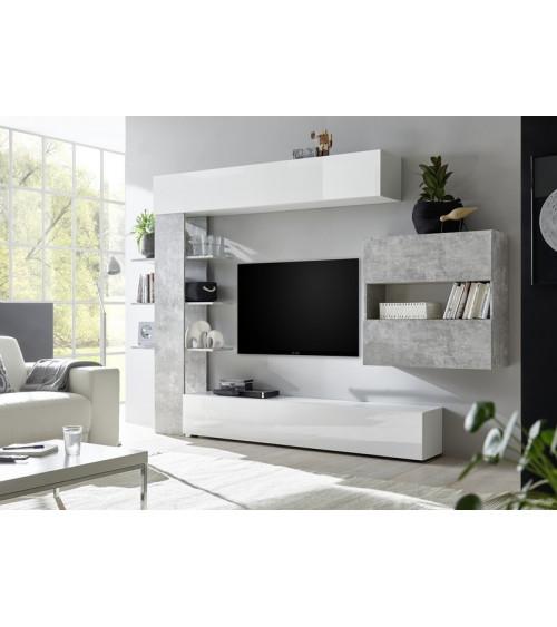 Ensemble meuble TV CELIO béton 295 cm