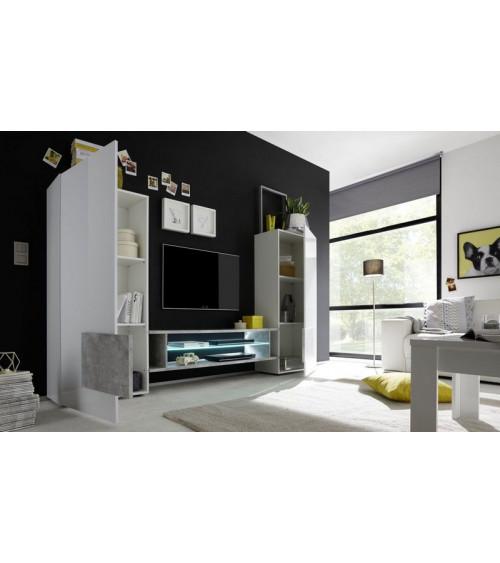 Ensemble meuble TV MARIO 258 cm béton