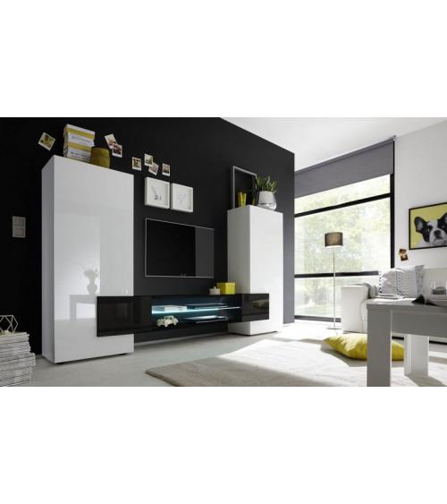 Ensemble meuble TV MARIO 258 cm noir