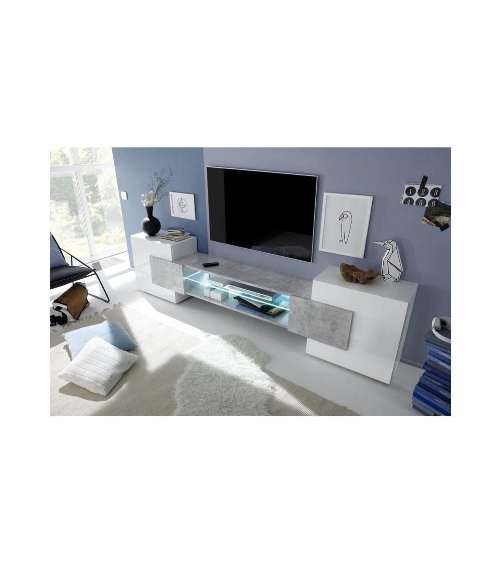Meuble TV MODENA 258 cm béton
