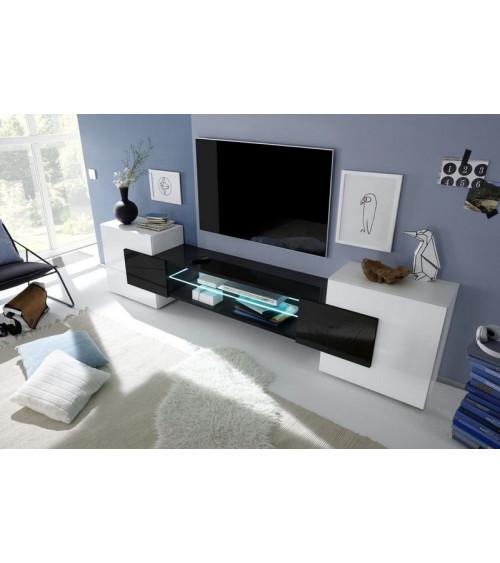 Meuble TV MODENA 258 cm noir