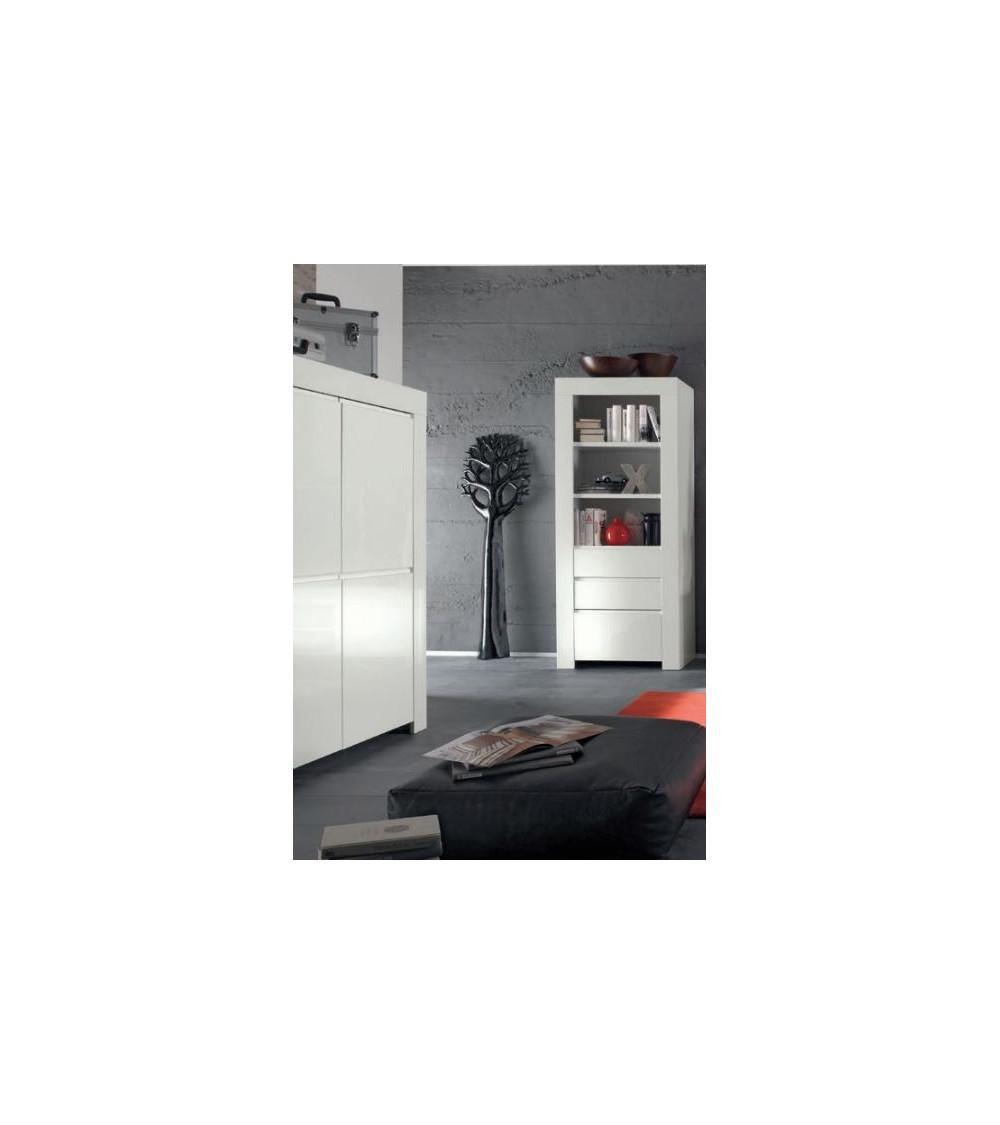 Colonne, vitrine LAZARRO 2 tiroirs, 1 porte