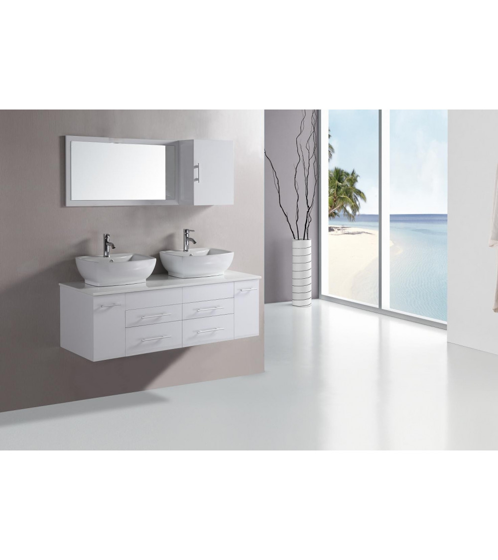 TAUSTE bathroom furniture, white