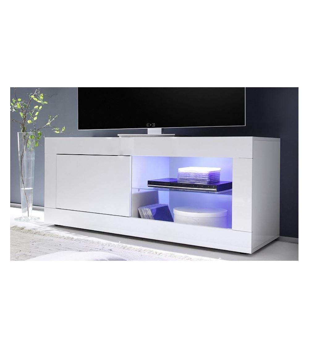 Meuble TV BASIC, 140 cm, blanc