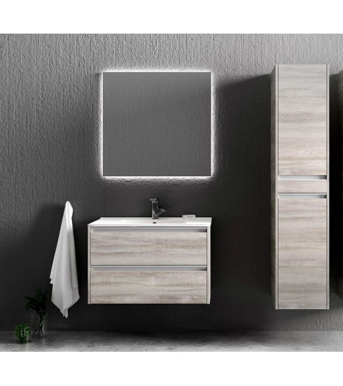 Meuble de salle de bain FONTE  II 60cm, chêne gris