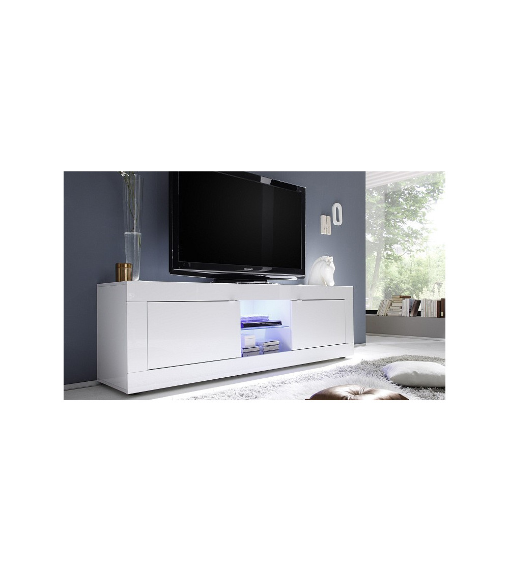Meuble TV BASIC, 181 cm, blanc