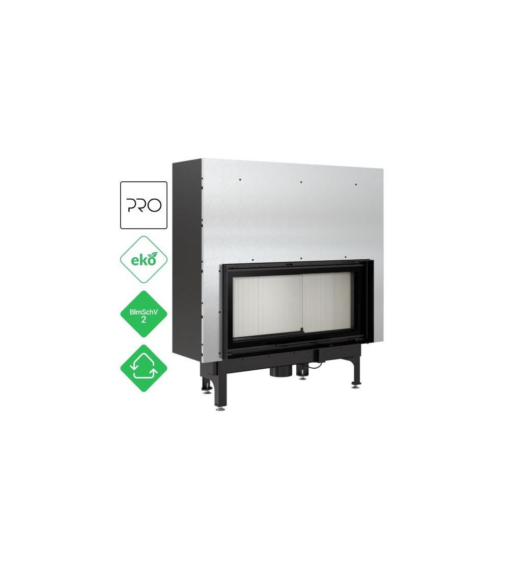 Insert cheminées à bois NADINE porte guillotine 17 kW