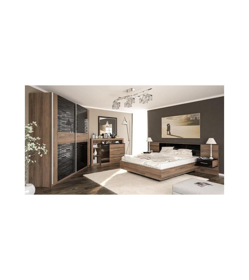 Chambre complète FESTA 160x200 cm black