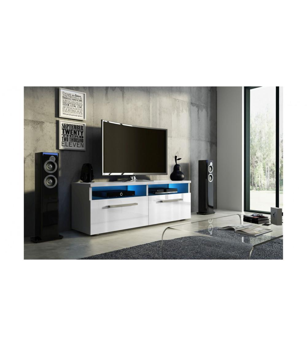 Meuble TV BOON , 100 cm, laqué blanc