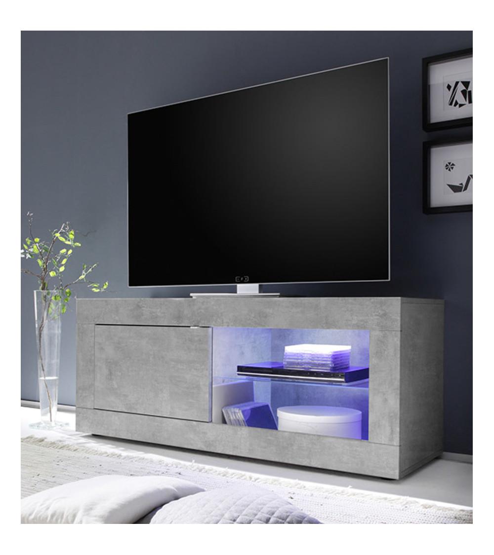 Meuble TV Basic en béton 1 porte 140/56/43 cm