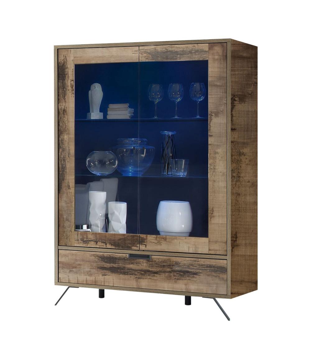 Grand vaisselier vitrine PALMA péro 106/173/50 cm
