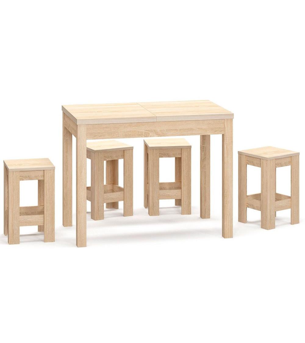 Ensemble table et  4 chaises Rosalia