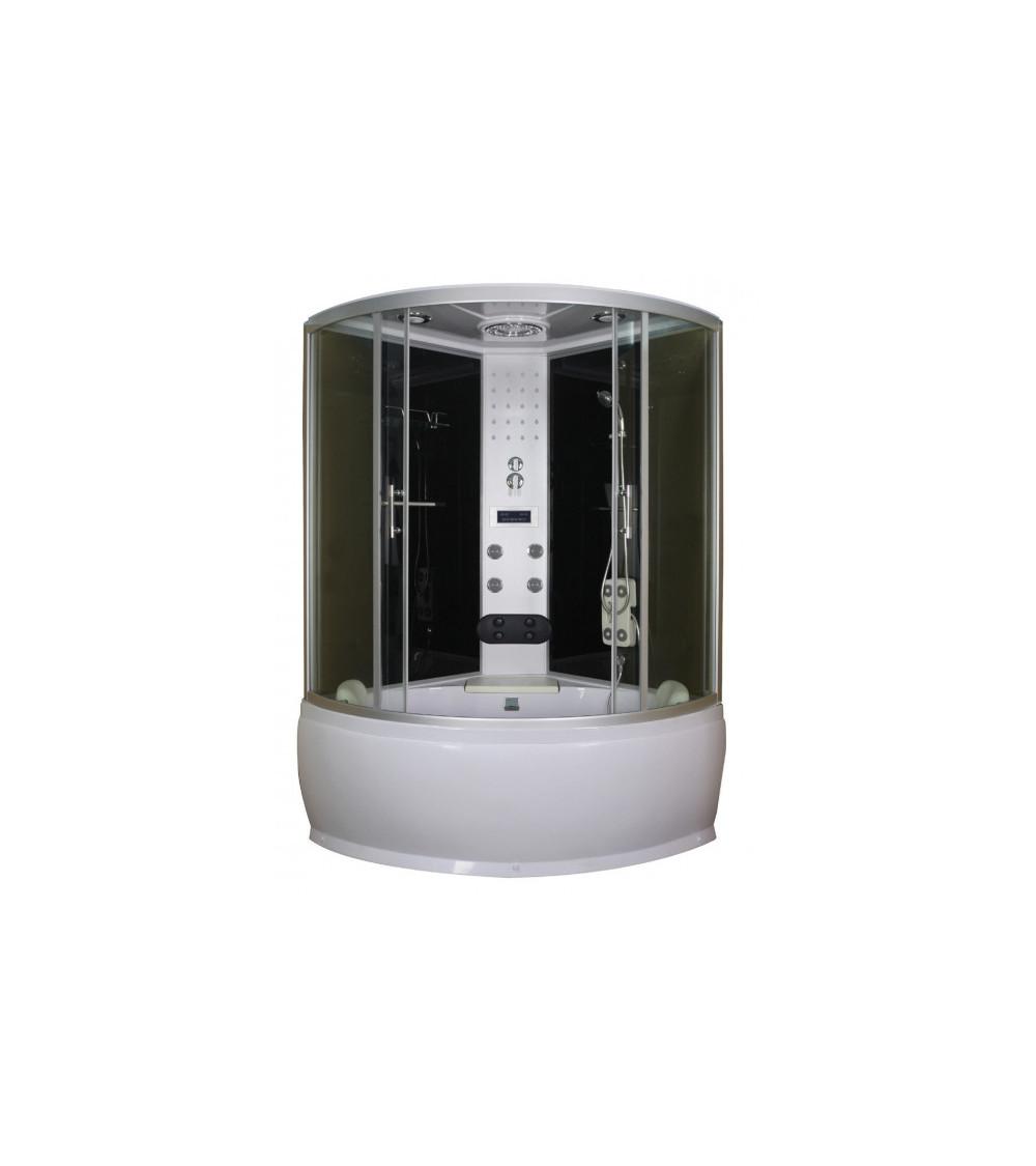 Combiné baignoire-douche LAGOS 120x120x228 cm NOIR
