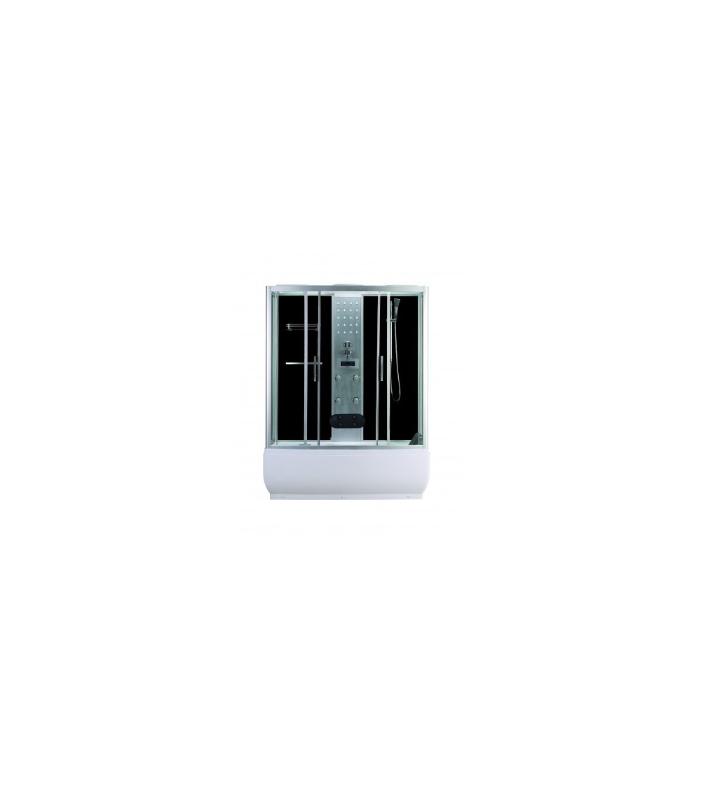 Combiné baignoire-douche SERRA 85 X 170X223cm NOIR