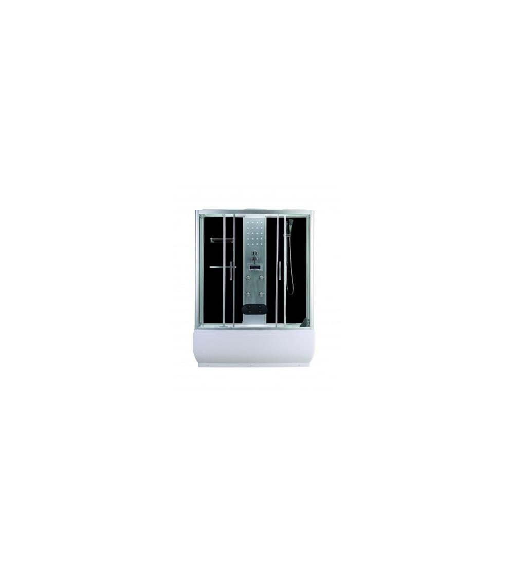 Combiné baignoire-douche SERRA II 85x150x223 cm NOIR