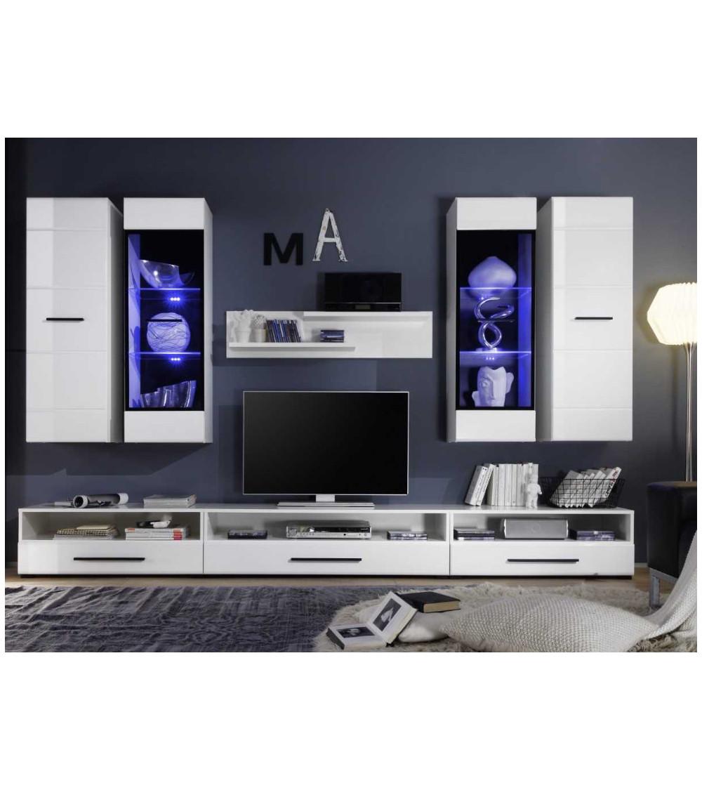Ensemble meuble TV MAXIMO blanc