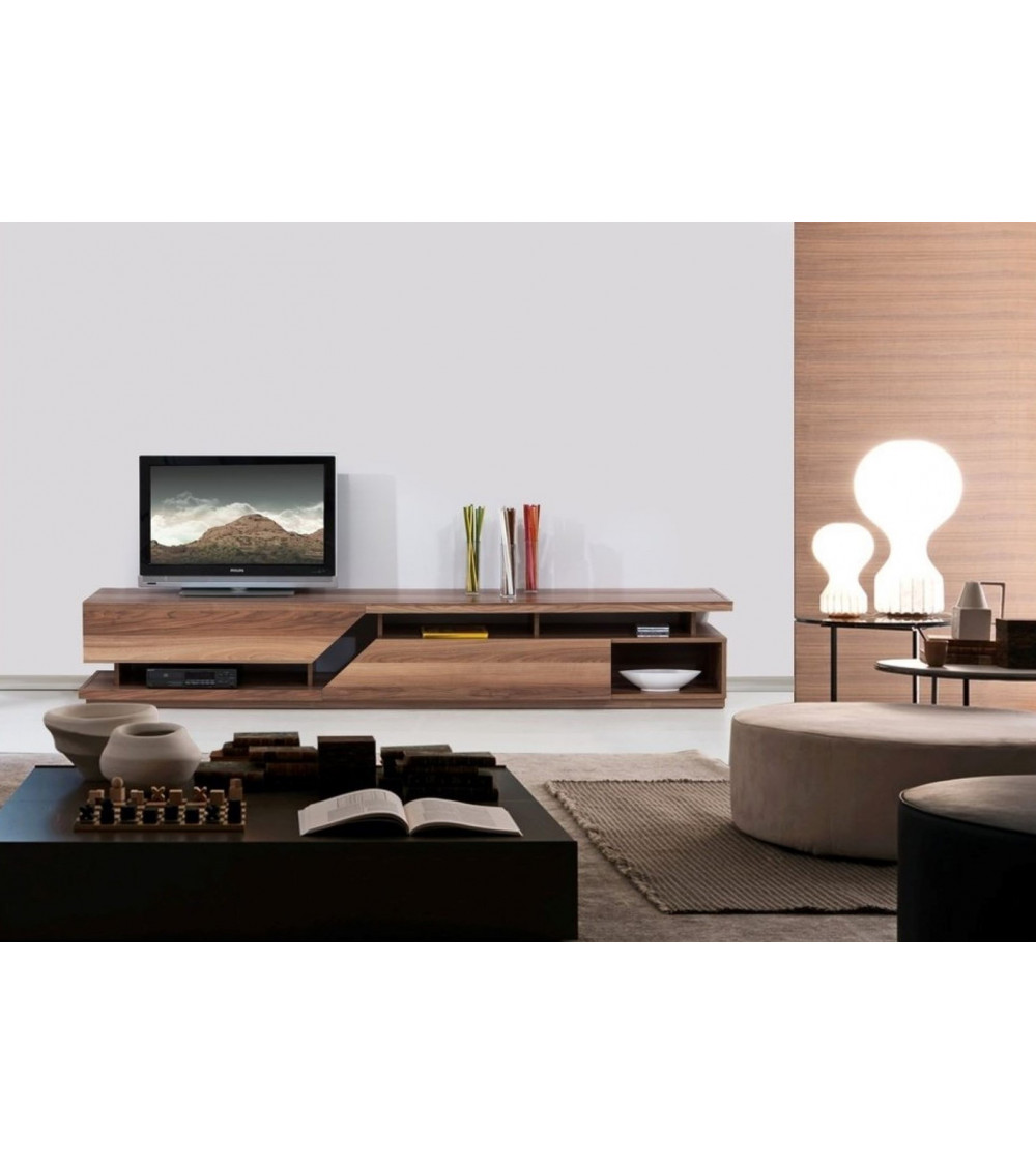 LOFT TV Storage combination with an integrated lighting system