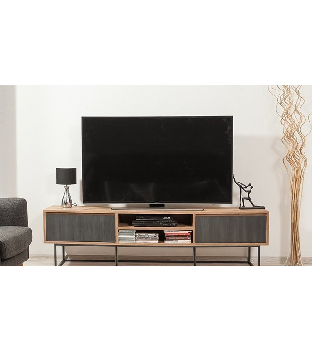 Meuble TV SILVA 180 CM Gris