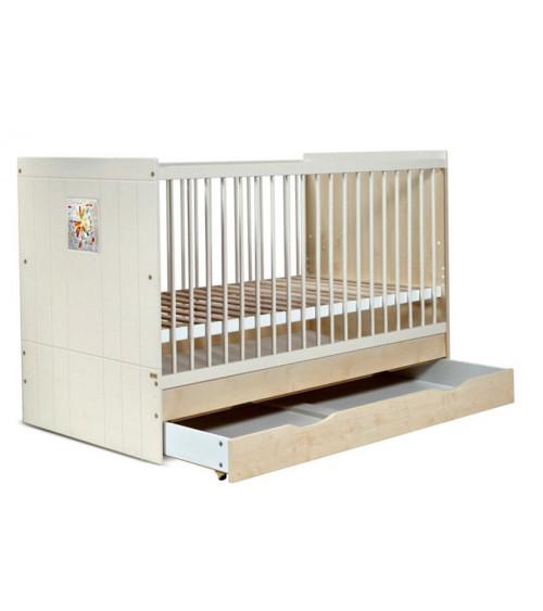 Lit bébé évolutif KAMILLA, 70*140cm