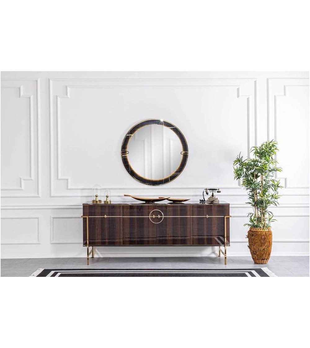 Buffet RAMSEY 4 portes + miroir