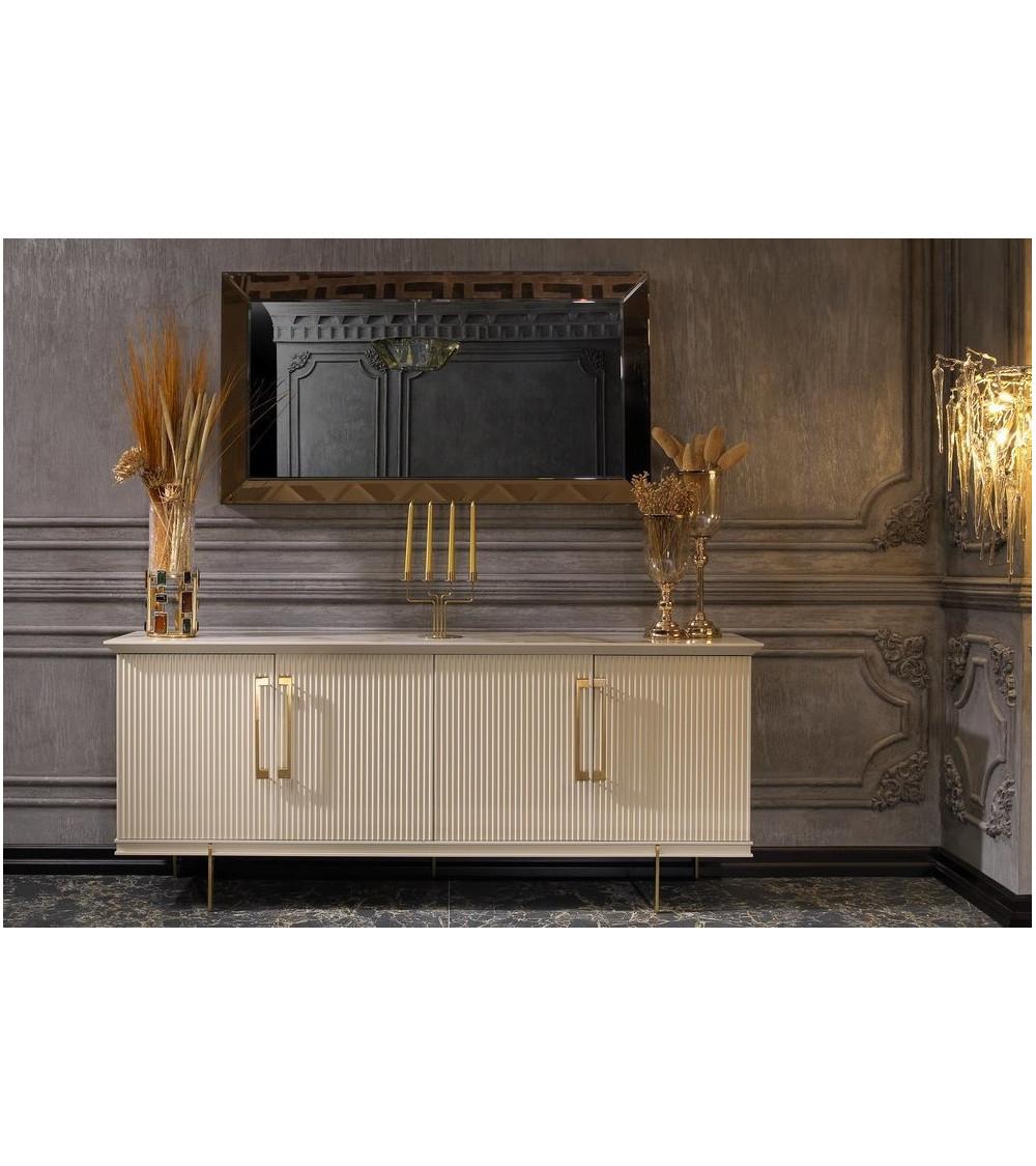 Buffet KREM 4 portes + miroir
