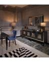 Buffet GATTI NOIR 4 portes + miroir