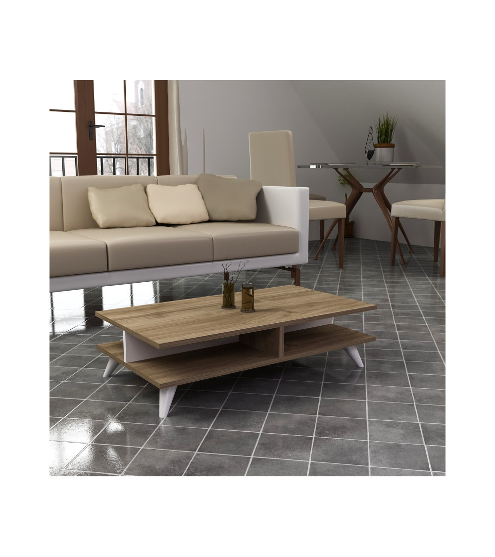 Table basse ISABEL blanc-chêne