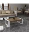 Table basse RETRO blanc-chêne