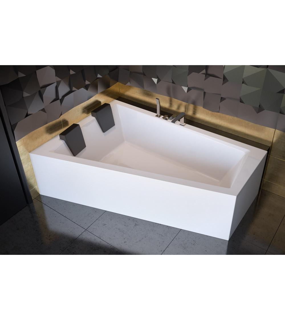 Baignoire d'angle Gauche ULTIMA DUO II en 170 ou 180 cm