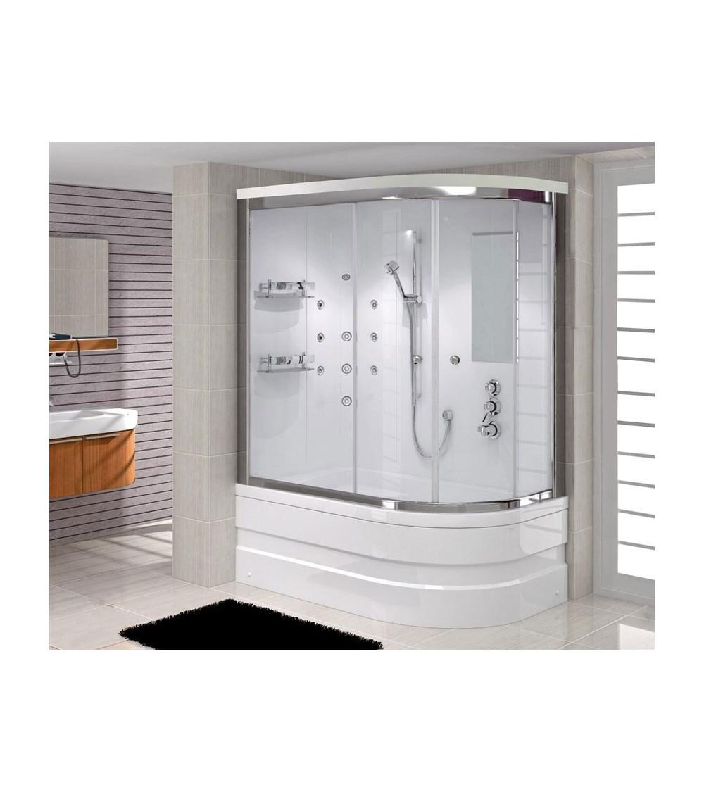 Combiné baignoire-douche FELIX MINI angle droit en 100/110/120 x 80 cm