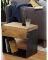 Table d'appoint bois et métal