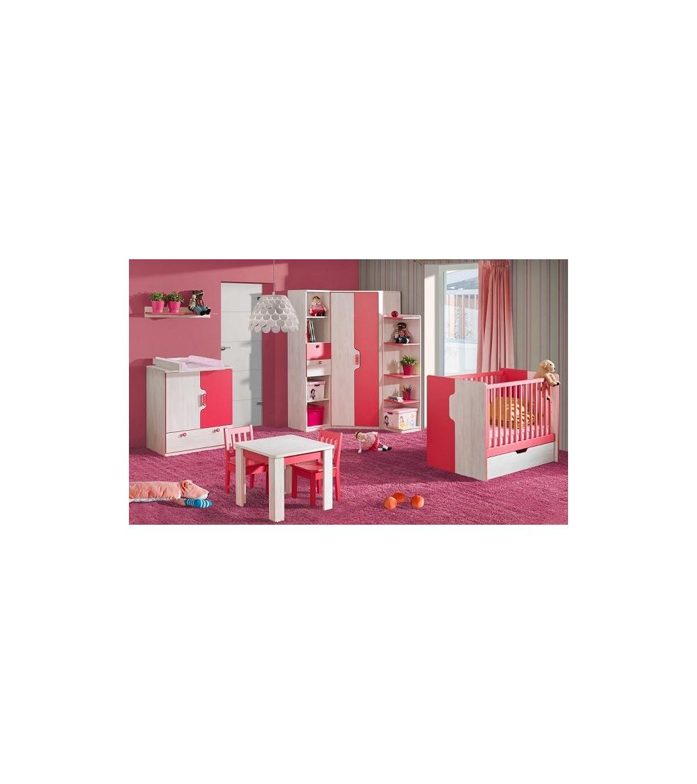 Lit bébé NUKI  60x120cm rose