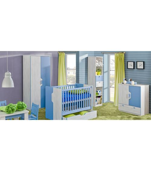 Baby cot bed 60*120cm, NUKI blue