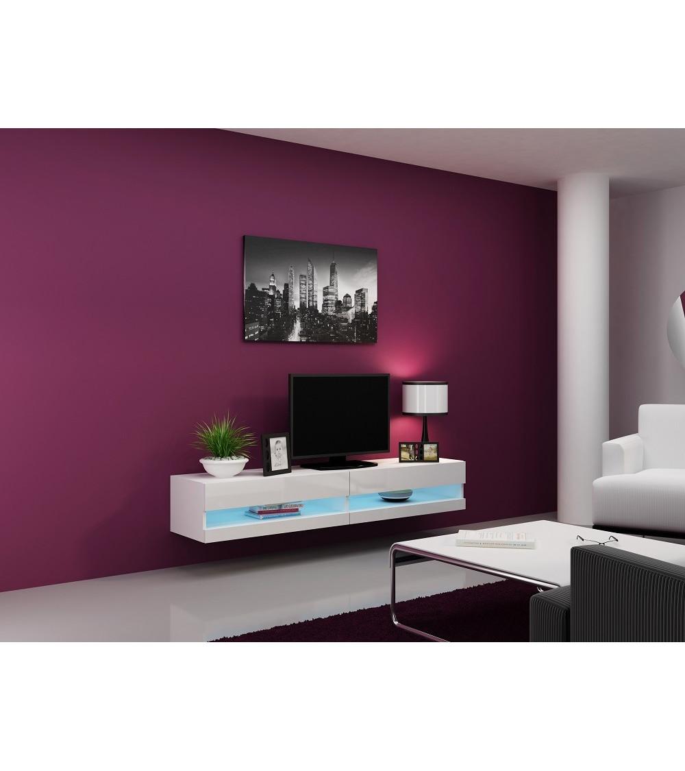 Meuble TV VIGO 180, NOIR ou BLANC
