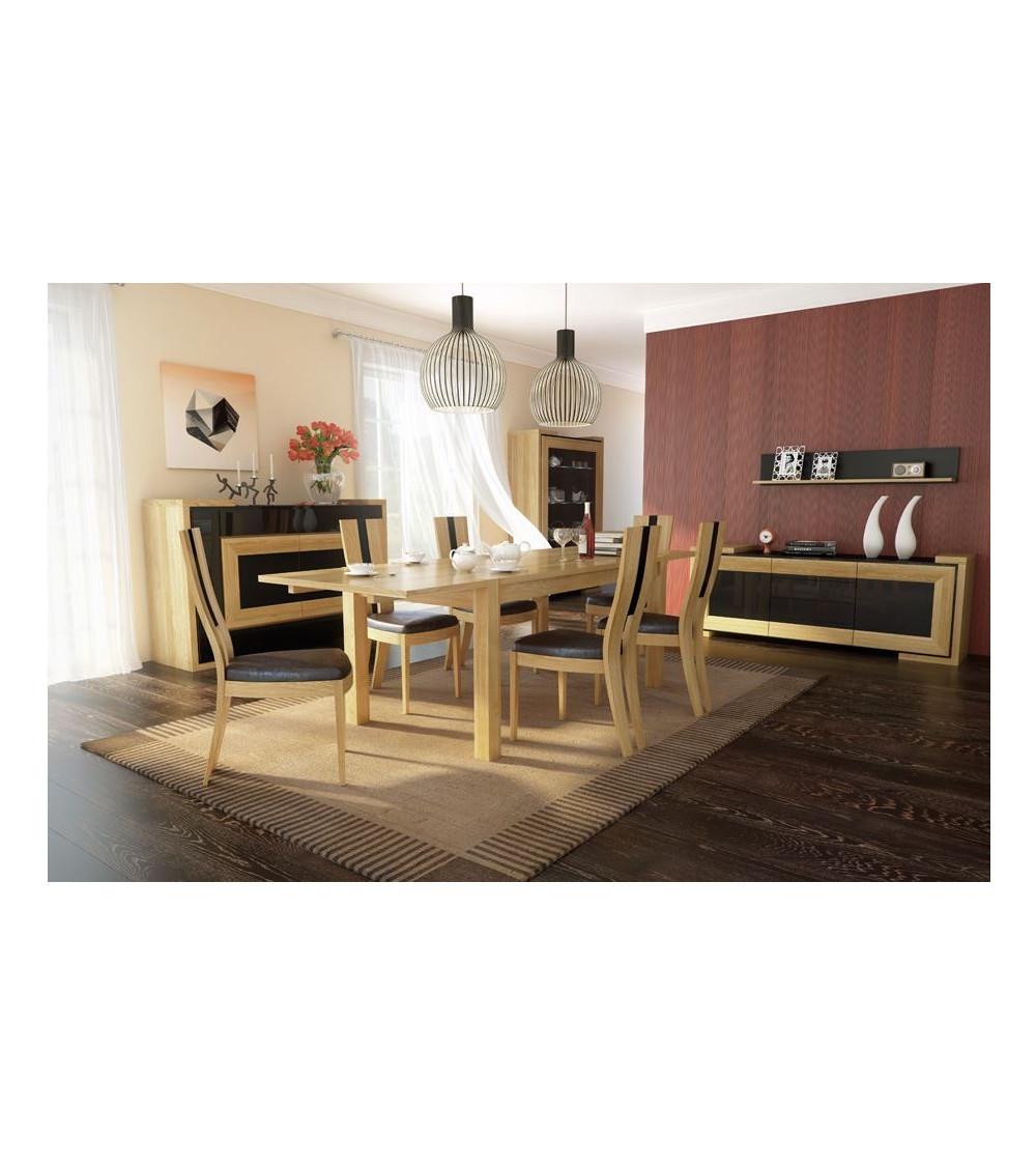 salle manger compl te corino chene clair. Black Bedroom Furniture Sets. Home Design Ideas
