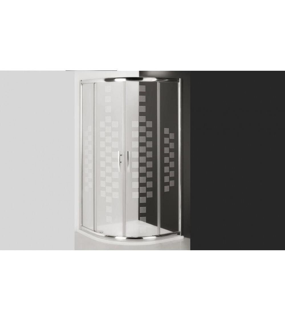 Cabine de douche d'angle PIXORN 90x90x200 cm
