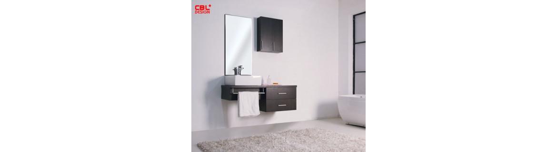Bathroom furniture with single basin