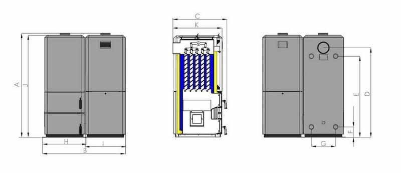 Pellet forni PELLET sensore sensore pellet caldaie pellet PELLET sensore livello di riempimento