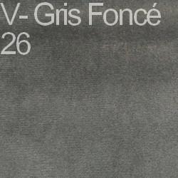 Velours - Gris foncé 26