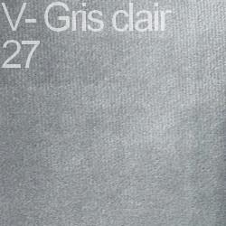 Velours - Gris clair 27